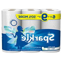 Sparkle Paper Towels, 6 Giant Rolls, Modern White, Pick-A-Si