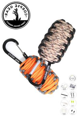 Paracord Bracelet 12-in-1 Survival Tactical Tool Camping Hik