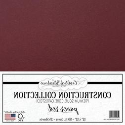 PAVER RED/WINE / BURGUNDY Cardstock Paper - 12 x 12 inch PRE