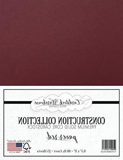 PAVER RED/WINE / BURGUNDY Cardstock Paper - 8.5 x 11 inch PR