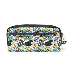 Pencil Case Stylish Print Dancing Guy Musical Large Capacity