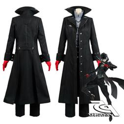 Persona 5 Joker Protagonist Cosplay Costume Outfit Coat Suit
