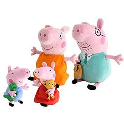 """4Pcs Piggy Pig Family Doll Stuffed Toy 12"""" DADDY MOMMY 8"""" Ch"""