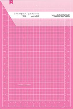Pink Double-Sided Self-Healing Cutting Mat 12X18-