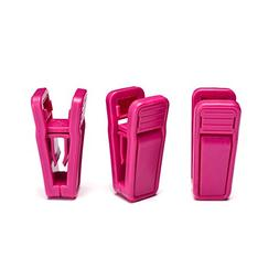 HOUSE DAY 20 Pack Hot Pink Plastic Finger Clips for Hangers,
