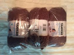 Bernat Pipsqueak Yarn Lot Of 3 Skeins 3.5 oz each in Chocola