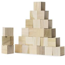 Wood Blocks 1.5 Inches  Made in USA - Unfinished Wooden Bloc