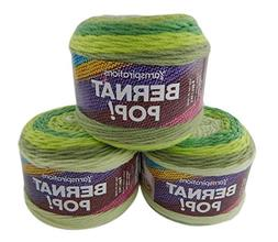 Bernat Pop Worsted Weight Self-Striping 3-Pack Acrylic Yarn