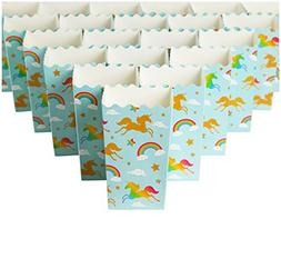 Set of 100 Popcorn Favor Boxes - Carnival Parties Mini Paper