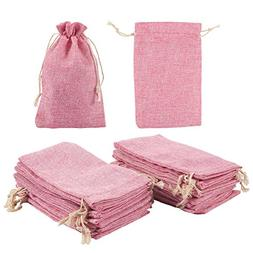 Jewelry Pouch Drawstring Bags - 24 Piece Burlap Gift Bags fo