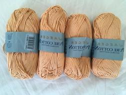 """Jaeger """"Pure Cotton"""" - Lot of 4 skeins in coral"""