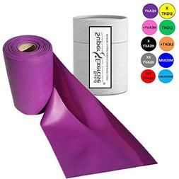 Super Exercise Band Purple Heavy Strength Latex Free Resista