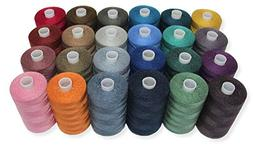SEWING AID All Purpose Polyester Sewing Threads in 24 Assort