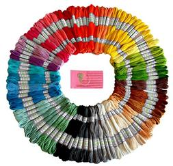 Premium Rainbow Color Embroidery Floss - Cross Stitch Thread
