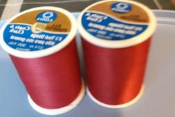 Red Coats & Clark All Purpose Thread 400 Yard Spool 2 spolls