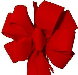 """6 Christmas Bows  FREE SHIPPING Red Velvet Bows 10""""W 26""""L 8"""