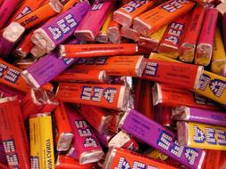 Pez Refills in Bulk 1 LB  About 50 Pieces Assorted