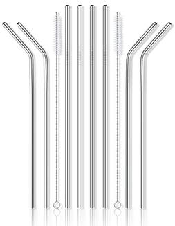 Reusable Stainless Steel Drinking Straws - Set of 8 Extra Lo