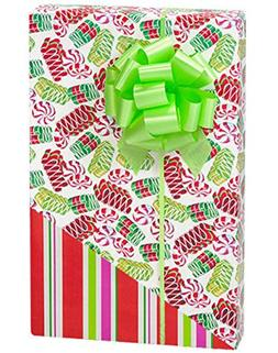 Reversible Vintage Ribbon Candy and Holiday Stripes Wrap Wra
