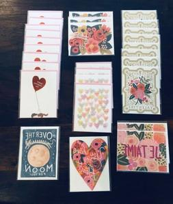 Rifle Paper Co Lot of 28 Blank Valentine Greeting Cards Indi
