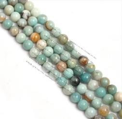 "4mm Round Amazonite Stone Gemstone Beads Strand 15""jewelry m"