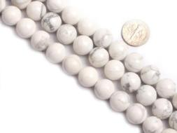 6mm Round White Howlite Beads Strand 15 Inch Jewelry Making