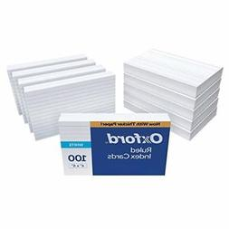"""Oxford Ruled Index Cards, 4"""" x 6"""", White, 1,000 Cards"""