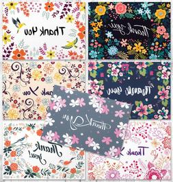 SALE! 42 Thank You Cards in Bulk - Floral Greeting Cards Set