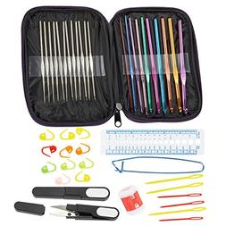 Crochet Hook Set – 22 Piece Ergonomic Crochet Hooks with A