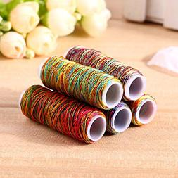 Sewing Thread - 5pcs 150d Rainbow Color Sewing Threads Hand