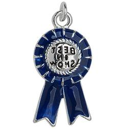 Beadaholique Silver Plated and Enameled Charm, Best in Show
