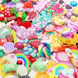 Slime Charms Cute Set- 100pcs Charms for Slime Assorted Frui