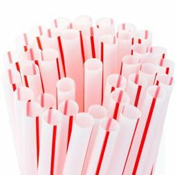 Soda Shoppe Style Red and White Striped Drinking Straws Bulk