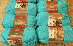 Red Heart Soft Essentials Yarn, lot of 6 in Turquoise