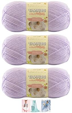Bernat Softee Baby Acrylic Yarn 3 Pack Bundle Includes 3 Pat