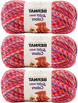 Bernat Softee Baby Colors Yarn, 4.2 Ounce, 310 Yards 3-Pack