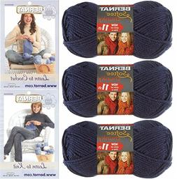 Bernat Softee Chunky Yarn, Super Bulky #6, 3 Skeins Faded De