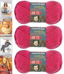 Bernat Softee Chunky Yarn Bundle ,Super Bulky #6, 3 Skeins H