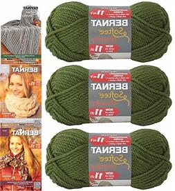 Bernat Softee Chunky Yarn Bundle Super Bulky #6, 3 Skeins Eu