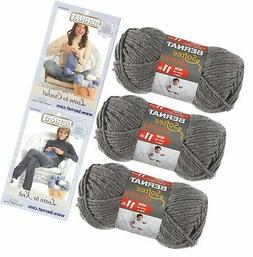 Bernat Softee Chunky Yarn Bundle Super Bulky #6, 3 Skeins Tr