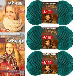 Bernat Softee Chunky Yarn Bundle Super Bulky #6, 3 Skeins Em