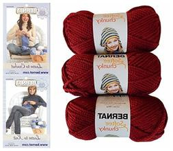 Bernat Softee Chunky Yarn Bundle Super Bulky Number 6, 3 Ske