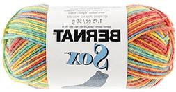 Bernat Sox Yarn, 1.7 Ounce, Rainbow, Single Ball