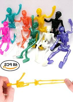 UpBrands Stretchy Skeleton 48 Pack 4 inches Bulk Set 9 Glitt