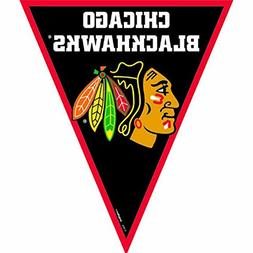 NHL Licensed Chicago Blackhawks Pennant Banner, 1 Piece, Mad