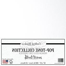 Sweet Tooth White Cardstock Paper - 12 x 12 inch 100 lb. Hea