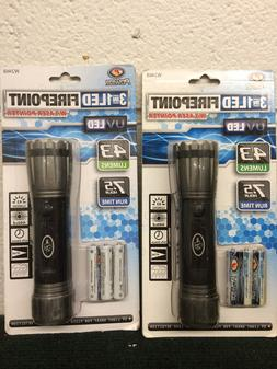 Tactical Led Flashlight Firepoint 3in1  2-pack includes batt