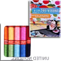 Aurifil Thread Set HAPPY COLORS By Lori Holt 50wt Cotton 10