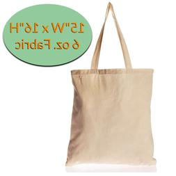 Canvas Tote Bags Wholesale - 12 Pack - Plain Cotton Tote Bag