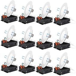 Sunco Lighting 12 Pack 4 Inch Slim LED Downlight with Juncti